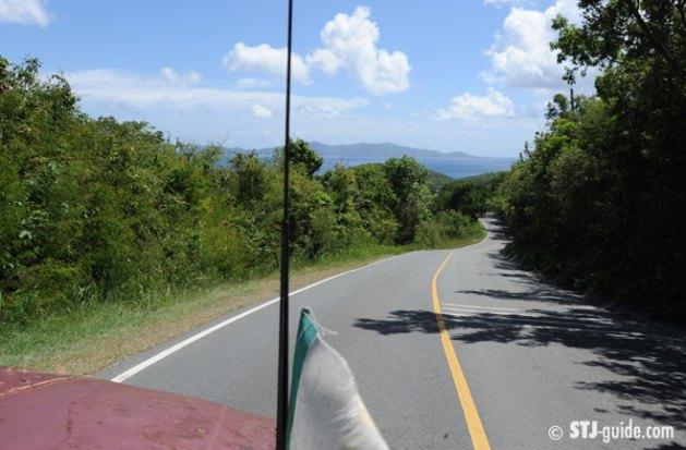 Driving on St. John USVI