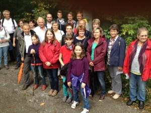 Gemeinsamer Weg der Gemeinde von der Sargstedter Warte zur Huysburg - Familienwallfahrt 07.09.2014