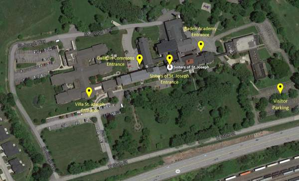 Aerial map of our grounds and buildings