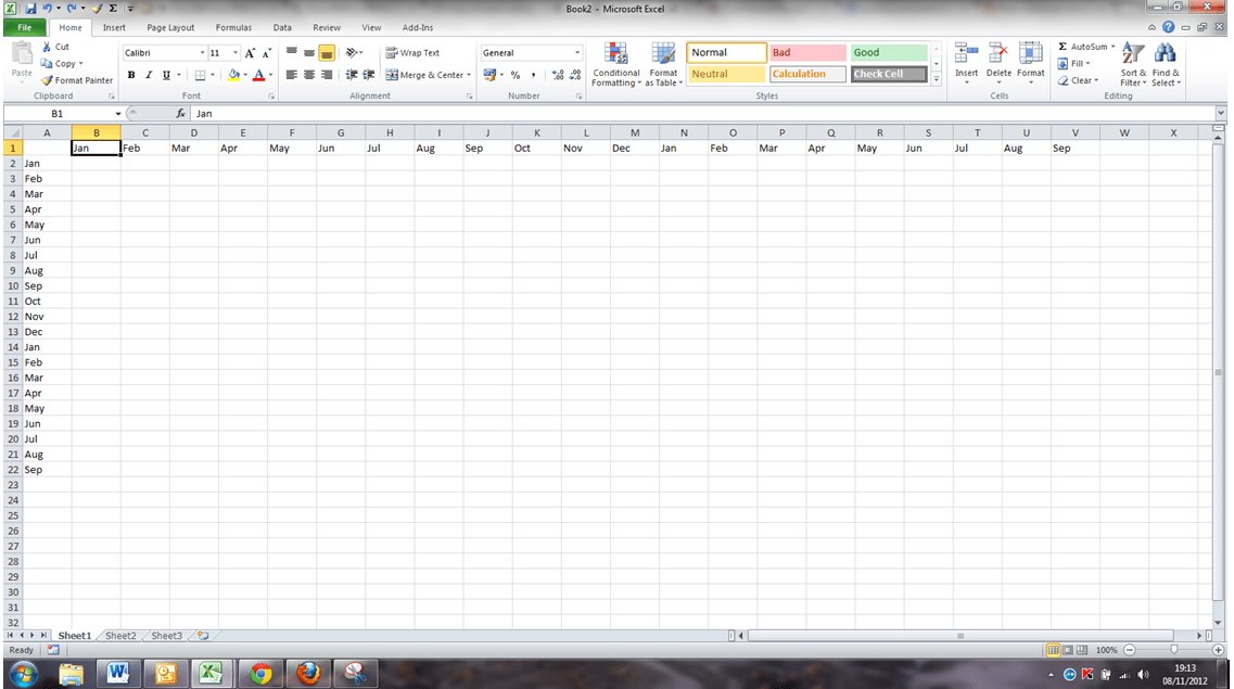 Copy vertical data and paste it horizontally in Excel