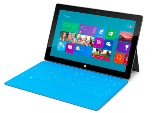 Microsoft's Windows 8 RT tablet. Source: http://www.pocket-lint.com/news/46152/surface-for-windows-8-rt-vs-surface-for-windows-8-pro