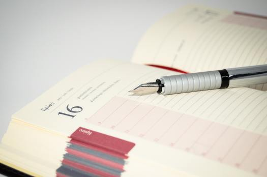 Using a diary is essential for good time management