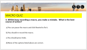 Quiz question from virtual classroom