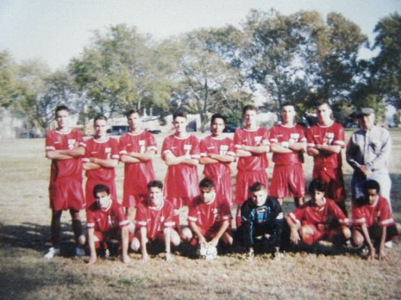 Roosevelt High School Soccer Team in 2003 - Ibisevic standing first from the left.