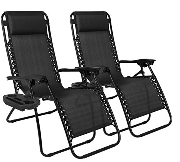 Set Of 2 Zero Gravity Recliner Patio Chairs 6142 Shipped