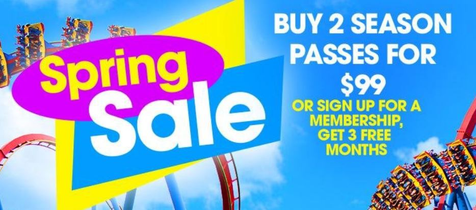 image regarding Six Flags Printable Coupons identify 6 Flags St. Louis Spring Sale - 2 Time Pes For $99