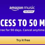 Amazon Music Unlimited – FREE For 90 Days