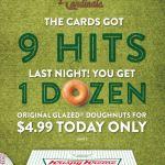 Krispy Kreme – $4.99 Original Glazed Dozen Doughnuts