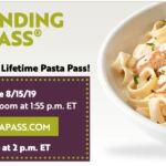 Olive Garden Never Ending Pasta Pass and a new Lifetime Pasta Pass Available Today At 1 PM