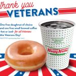 Free Doughnut & Coffee For Veterans On Veterans Day At Krispy Kreme