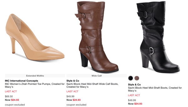 Last Act Shoe Sale ~ Save Up to 75% Off