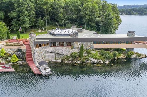 Frank Lloyd Wright-Inspired Home on Private Island
