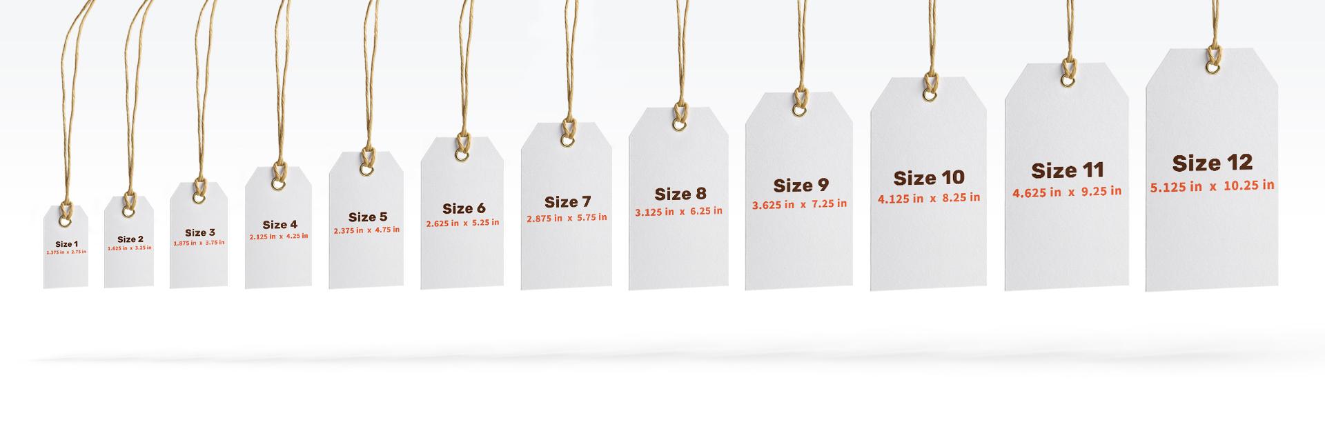 standard sizes for custom