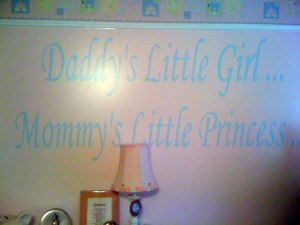 girls room lettering on the wall