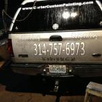truck handpainted lettering