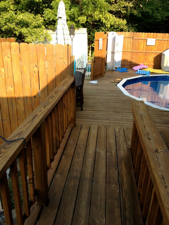 pool deck staining
