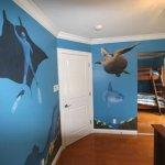 scuba diving mural