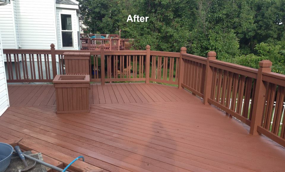 carter custom painting does deck staining