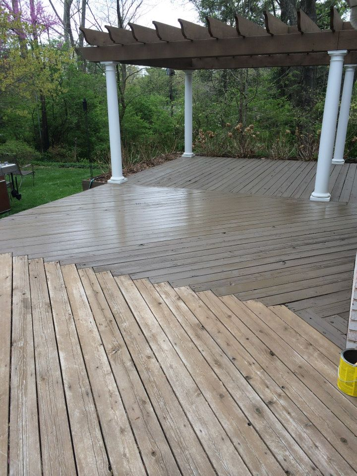we power wash decks