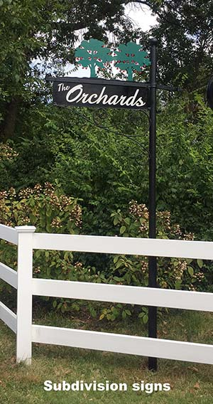subdivision sign
