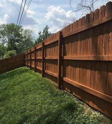 frontenac solid color fence staining