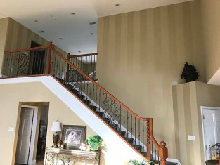 stairwell faux finish