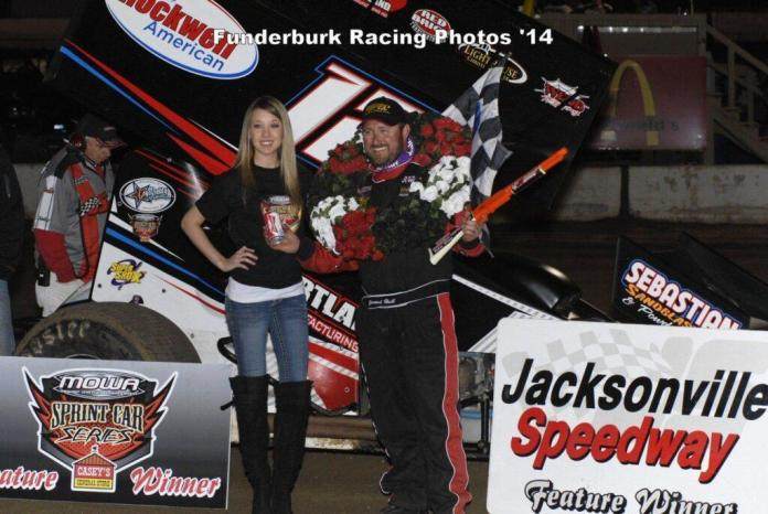 Jerrod in Victory Lane at Jacksonville (Mark Funderburk Racing Photo)
