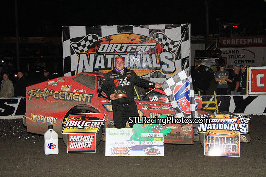 Haers Holds off Sheppard and Claims DIRTcar Nationals Victory