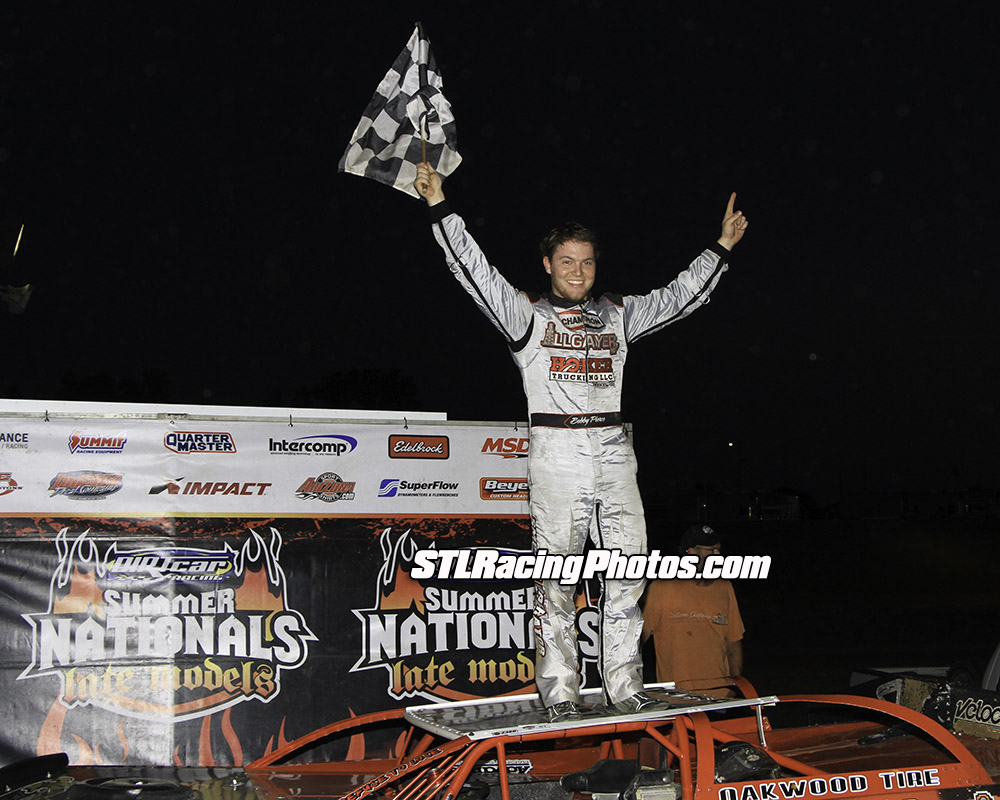 Bobby Pierce claims Spoon River Speedway UMP Summer Nationals win!
