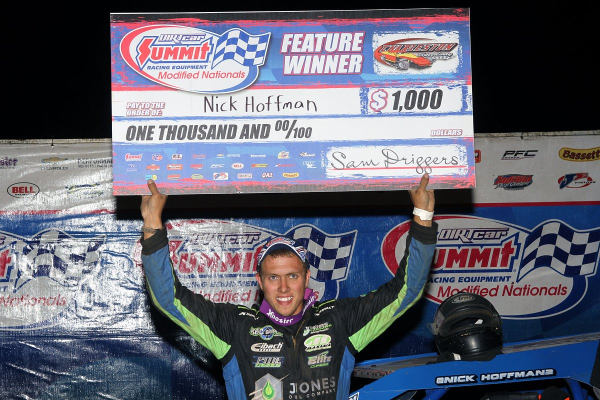 Nick Hoffman takes Summit Modified Nationals win at Charleston Speedway!
