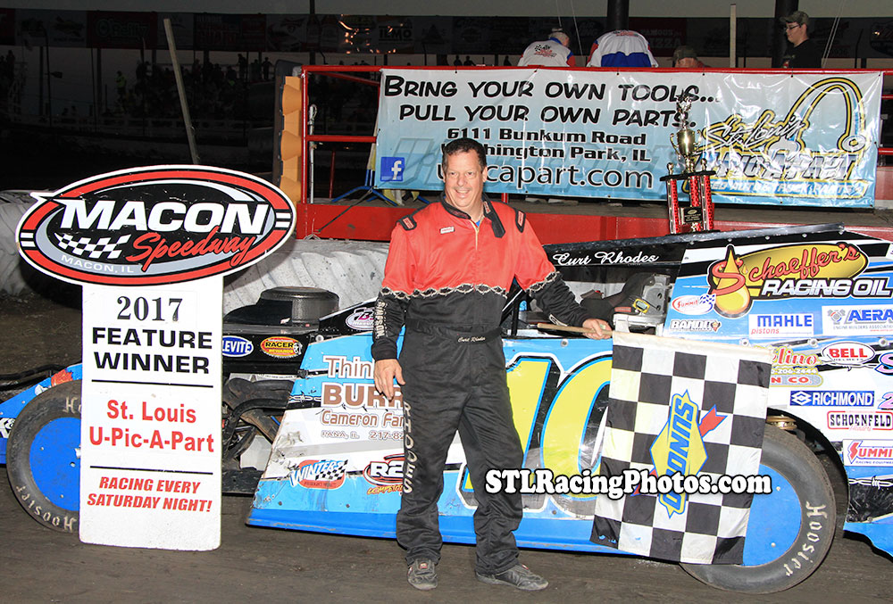 Curt Rhodes & Tim Hancock take wins at Macon Speedway