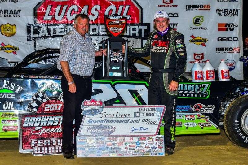 Owens Wins Tribute to Steve Barnett at Brownstown