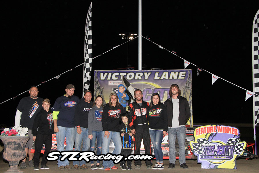Michael Long takes Tri-City Speedway victory!
