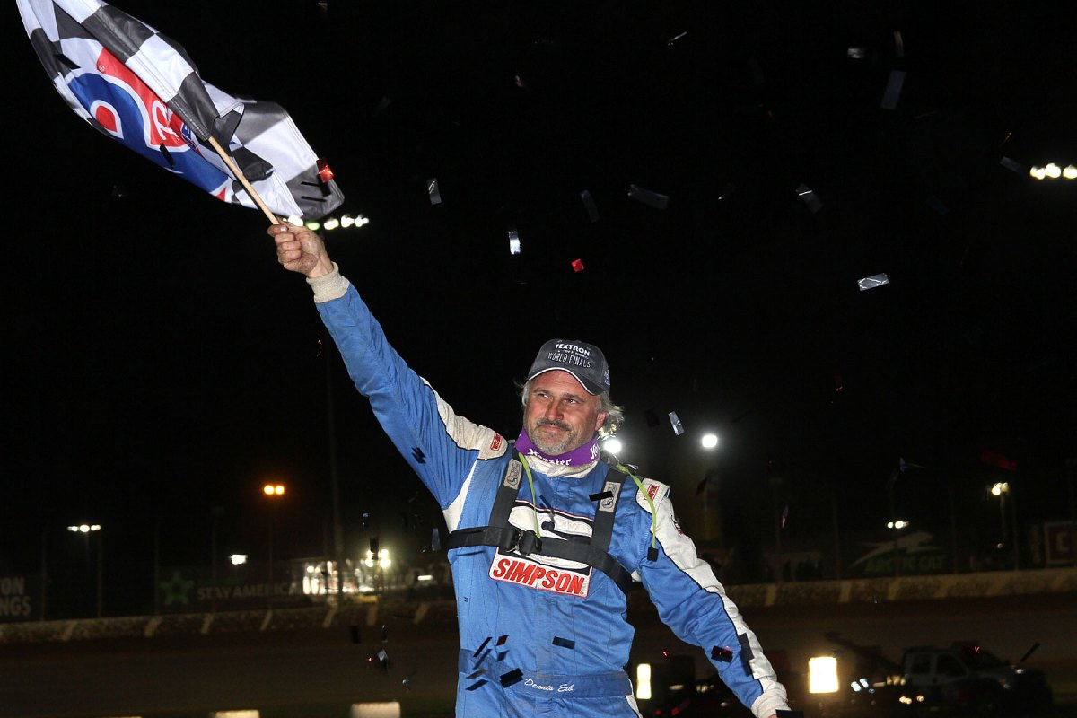 Dennis Erb Jr. Takes the Checkers on Saturday Night at World Finals