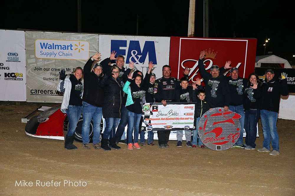 "Babb Banks $10,555 in ""Slocum 50"" Win at 34 Raceway"