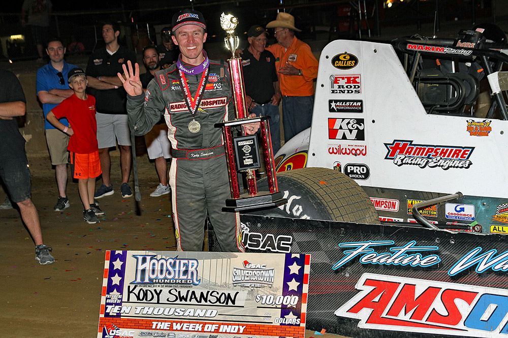 Cody Swanson wins the Hoosier 100!
