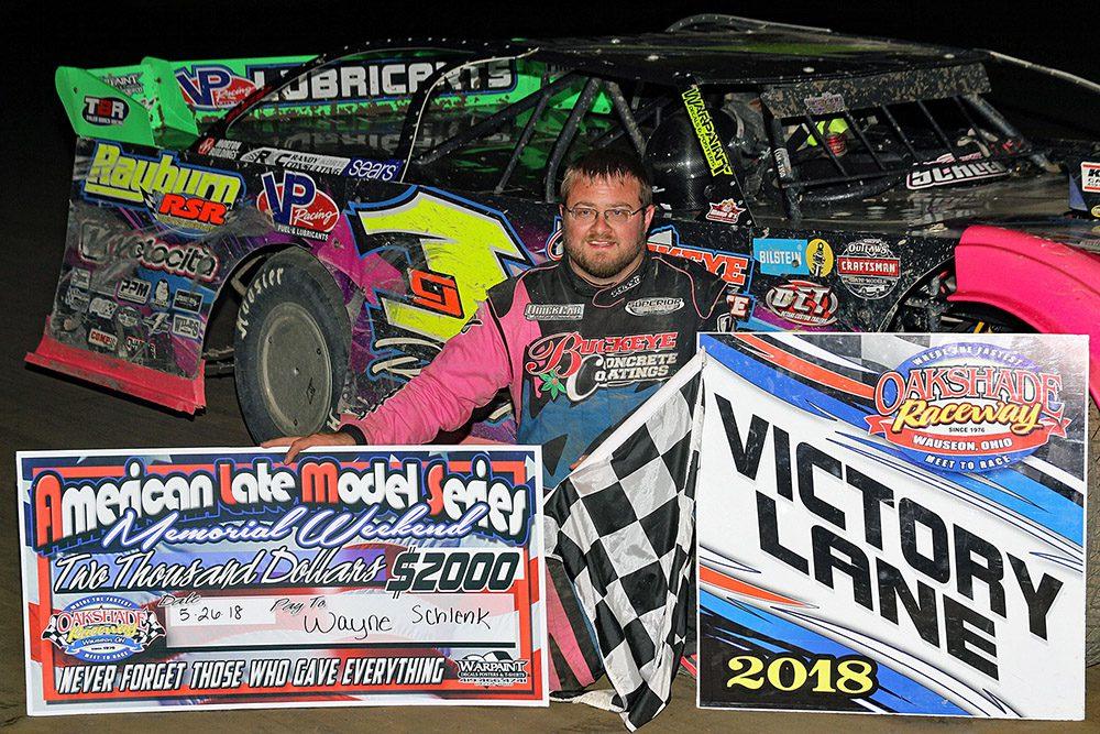 Rusty Schlenk takes Sunoco ALMS win at Oakshade Raceway!