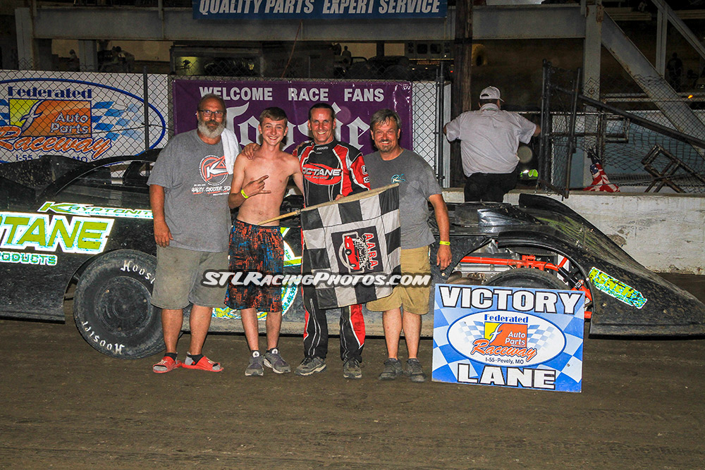 Freddie Carpenter, Mike Harrison, Troy Medley, Lee Stuppy & Morgan Greene take wins at Federated Auto Parts Raceway at I-55!