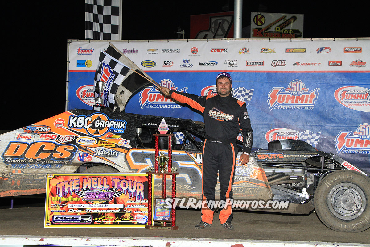 Allen Weisser wins Tri-City Speedway's Summit Modified Nationals in a photo finish!