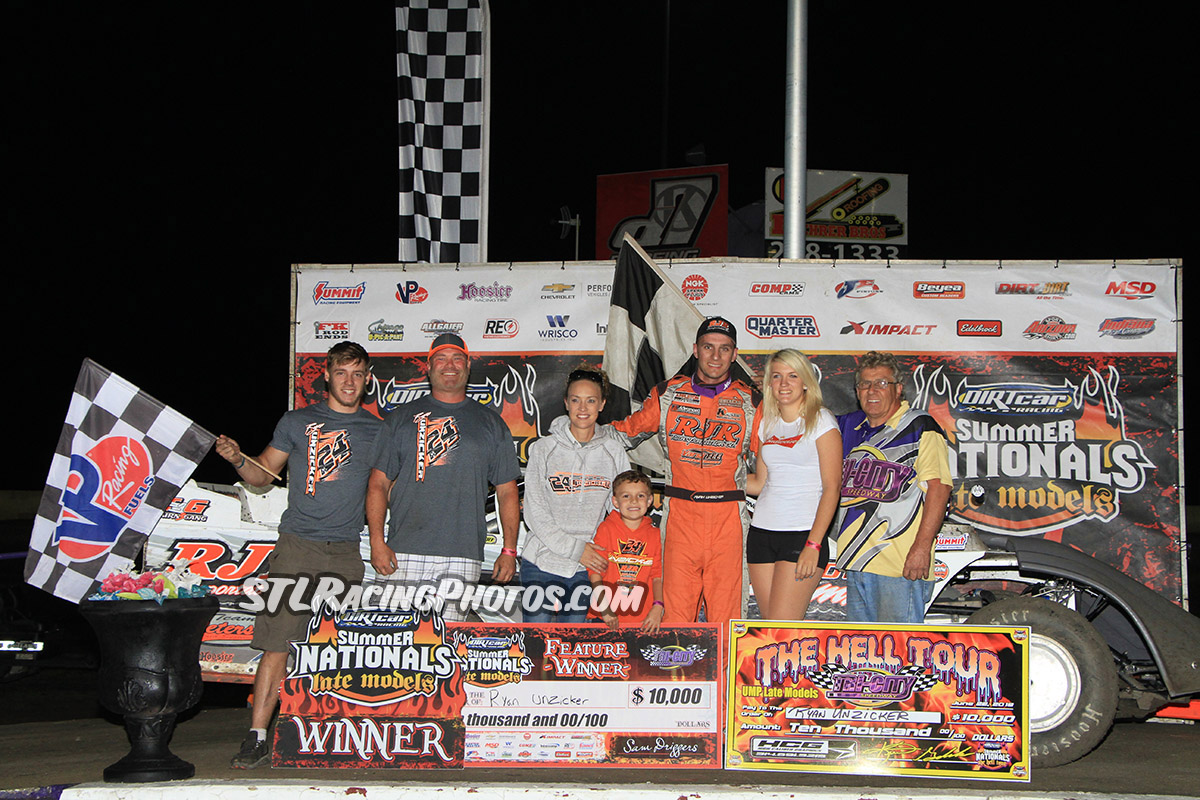 Ryan Unzicker takes Tri-City Speedway HellTour Win!