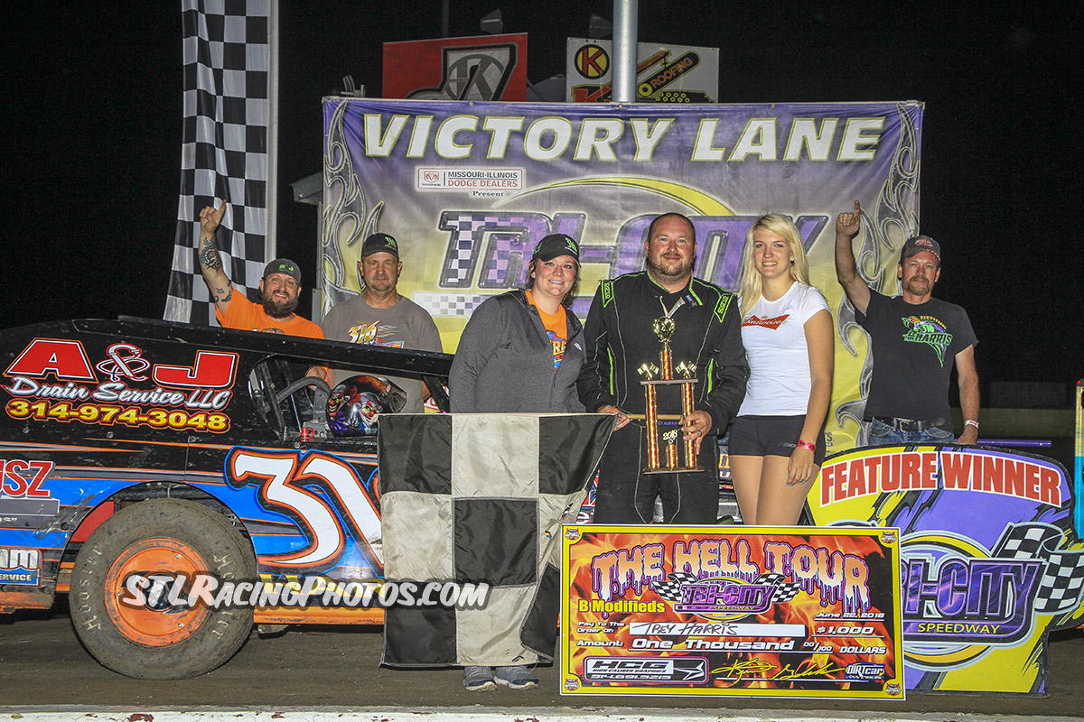 Trey Harris tops Tri-City Speedway B-Mod action!