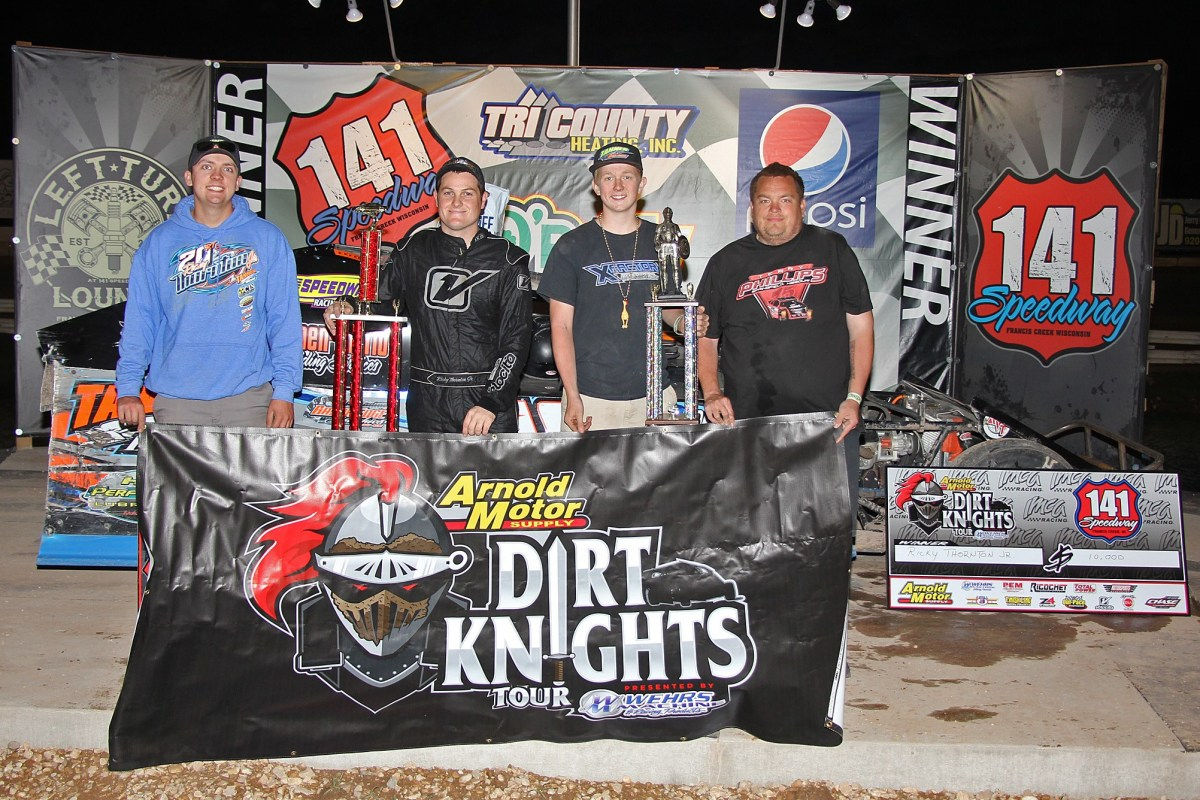 Thornton dominates $10,000 to win IMCA Clash at the Creek
