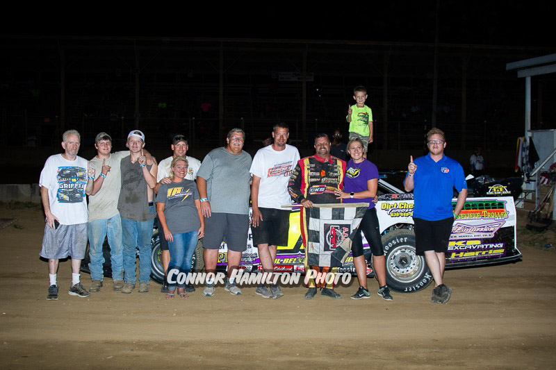 Rusty Griffaw, Tyler Diebert, Tim Hancock, Trevor Isaak, Morgan Greene & Ryan Mueller take wins at Belle-Clair Speedway!