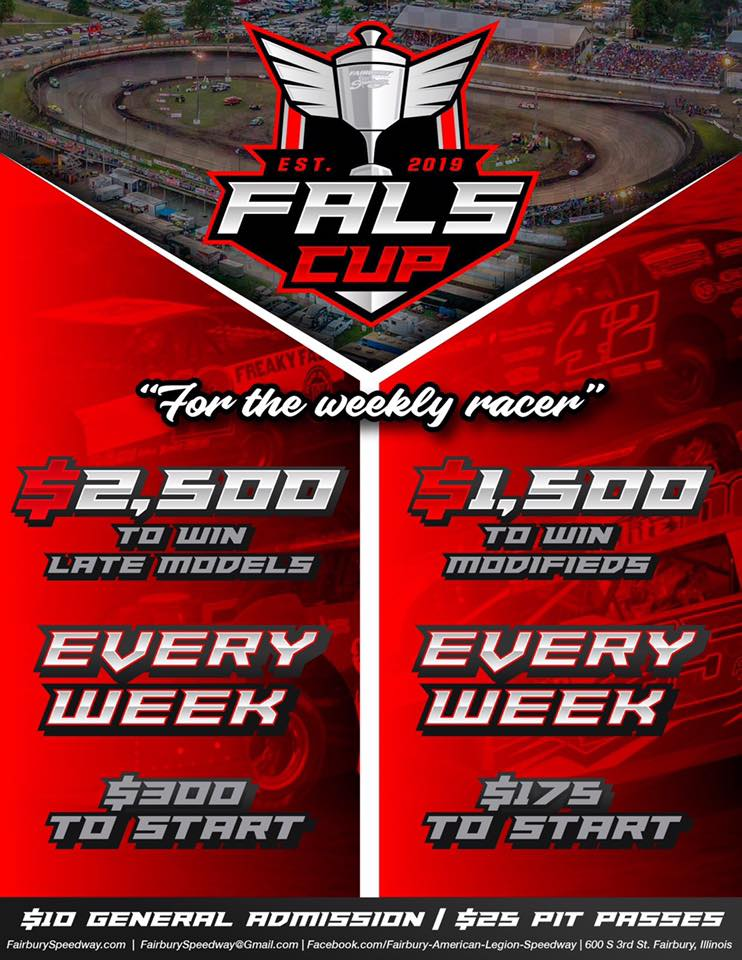 Fairbury Speedway steps up with big weekly purse for DIRTcar Late Models & DIRTcar UMP Modifieds!