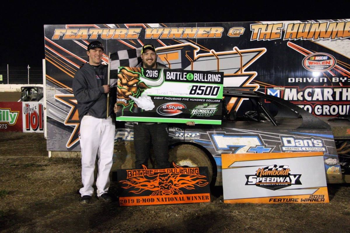 Ricky Thornton, Jr. takes King of America win at Humboldt Speedway! Jared Timmerman takes B-Mod win!