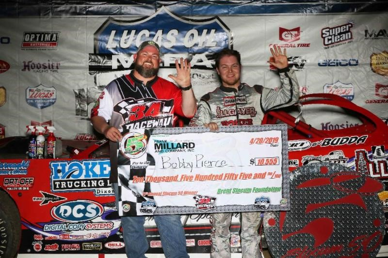 Pierce Captures 3rd Career Slocum 50 at 34 Raceway