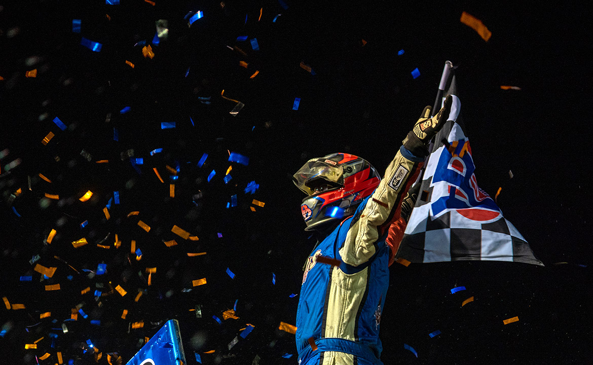 ​​​​​​​Danny Dietrich wins World of Outlaws debut at 3/8-mile Bridgeport Speedway