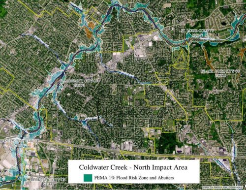 Coldwater Creek Radiation Map