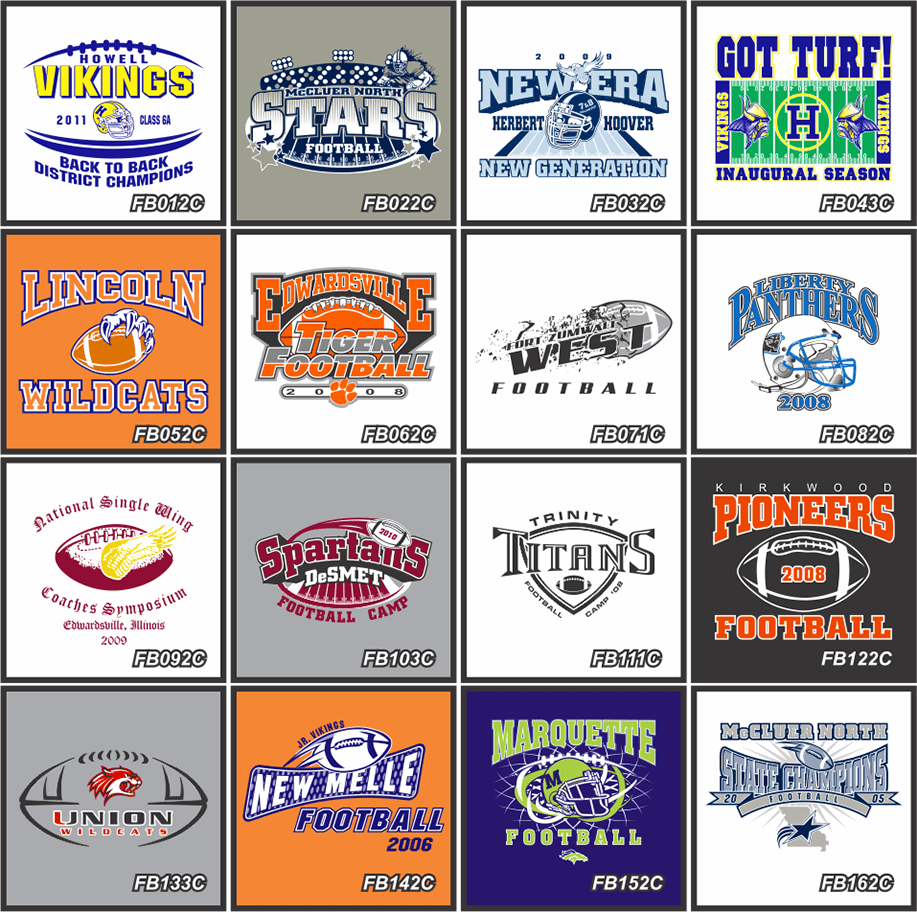 CUSTOM FOOTBALL LOGOS FOR SHIRTS