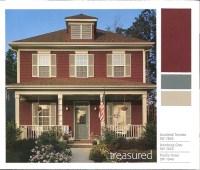 Red Brick House Color Schemes | Car Interior Design